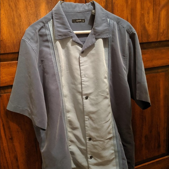 Alfani Other - Alfani Men's Large Button Down Short Sleeve Blue